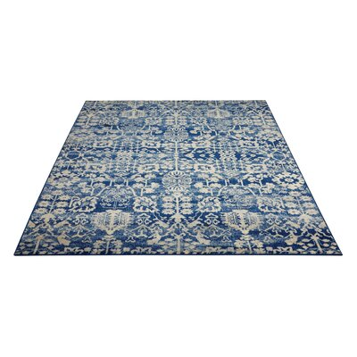 Allenvale Navy Area Rug Rug Size: Rectangle 53 x 75