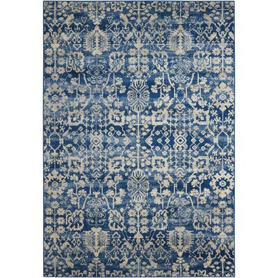 Allenvale Navy Area Rug Rug Size: 53 x 75