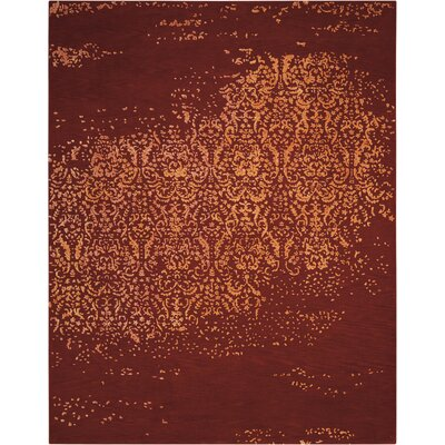 Buecker Red/Beige Area Rug Rug Size: 56 x 75