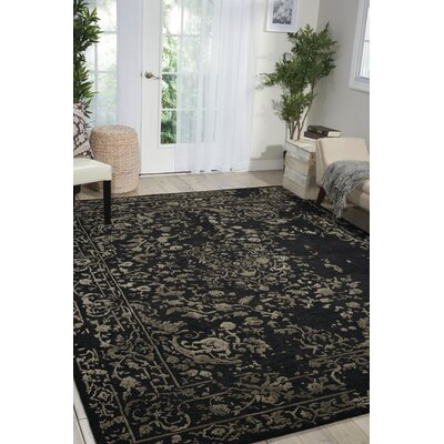 Buecker Hand-Tufted Black Area Rug Rug Size: 79 x 99