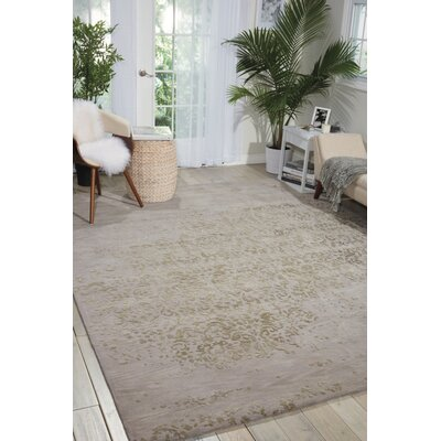 Hadley Hand-Woven Silver Area Rug Rug Size: Rectangle 86 x 116