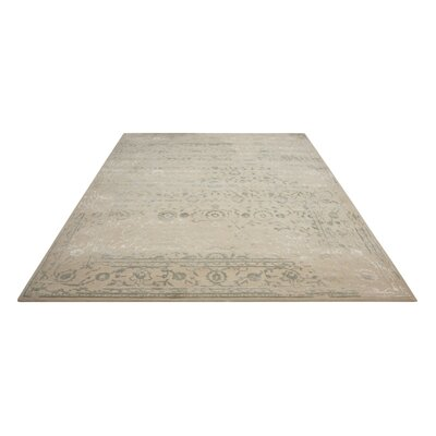 Hadley Hand-Tufted Beige Area Rug Rug Size: Rectangle 86 x 116