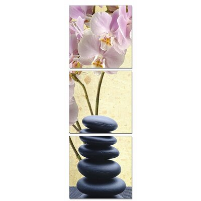 Yoga Stones 3 Piece Photographic Print on Canvas Set WDMG3176 30596753
