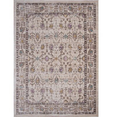 Electrolux Beige Area Rug Rug Size: Rectangle 52 x 76