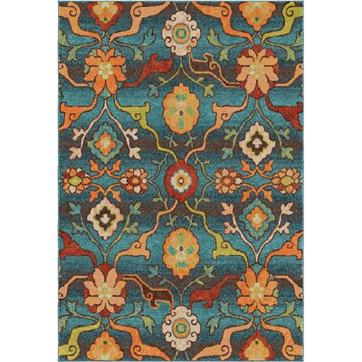 Ansonville Blue Area Rug Rug Size: 53 x 76