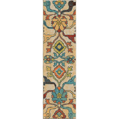 Santino Floral Area Rug Rug Size: Runner 23 x 8