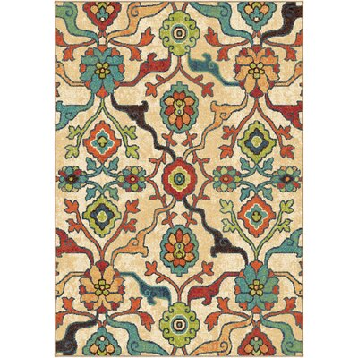 Santino Floral Area Rug Rug Size: 53 x 76