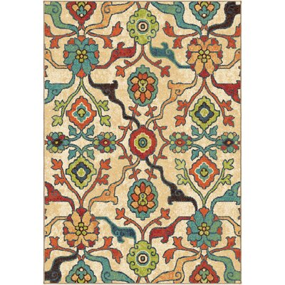 Santino Floral Area Rug Rug Size: 67 x 98