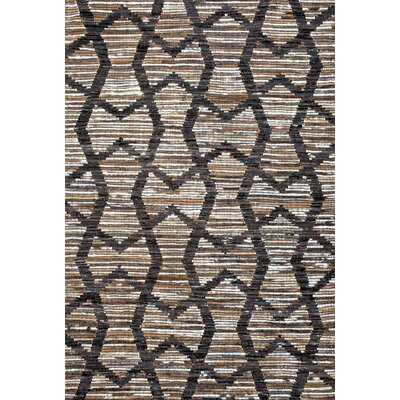 Deepak Hand-Woven Brown Area Rug Rug Size: Rectangle 76 x 96