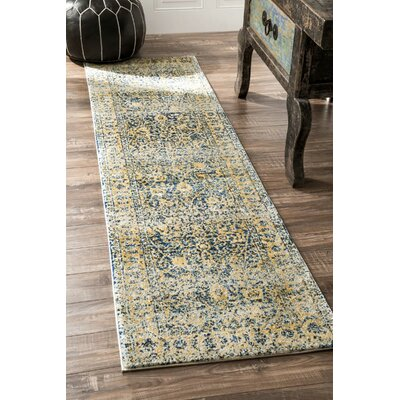 Boca Yellow/Blue Area Rug Rug Size: Rectangle 53 x 77