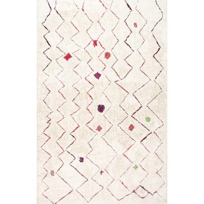 Aldham Hand-Tufted Light Beige Area Rug Rug Size: Rectangle 4 x 6
