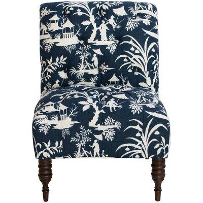Aqua Printed Slipper Chair