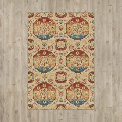 Ansonville Beige Area Rug Rug Size: 710 x 1010