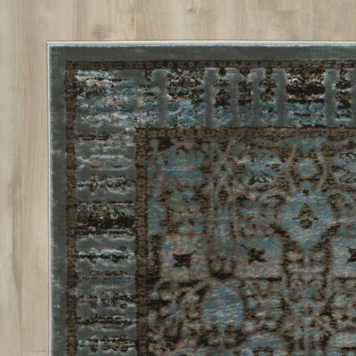 Malakia Blue/Black Area Rug Rug Size: Rectangle 2 x 3