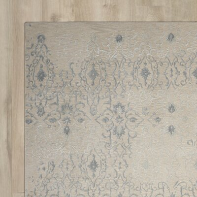 Hadley Machine Woven Wool Beige Area Rug Rug Size: Rectangle 39 x 59