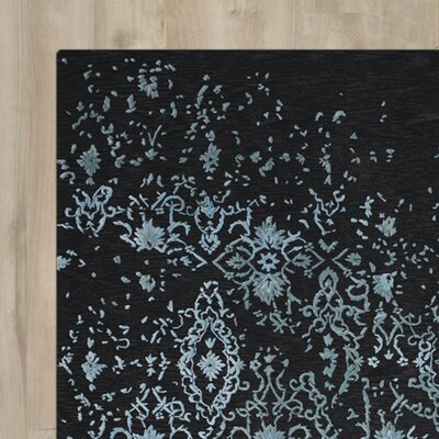 Buecker Blue/Black Area Rug Rug Size: Runner 23 x 8
