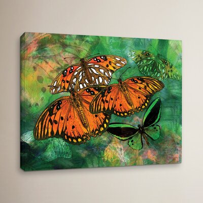 "Orange Butterfly Fantasy II Graphic Art on Wrapped Canvas Size: 14"" H x 18"" W WDMG3293 30812367"
