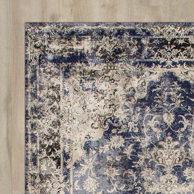 Dippach Blue/Beige Area Rug Rug Size: 5 x 8