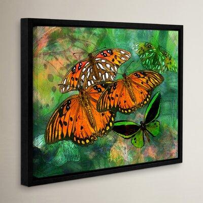 "Orange Butterfly Fantasy II Framed Graphic Art Size: 8"" H x 10"" W WDMG3279 33283387"