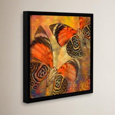 """Golden Butterflies II Framed Graphic Art Size: 10"""" H x 10"""" W WDMG3292 33283400"""