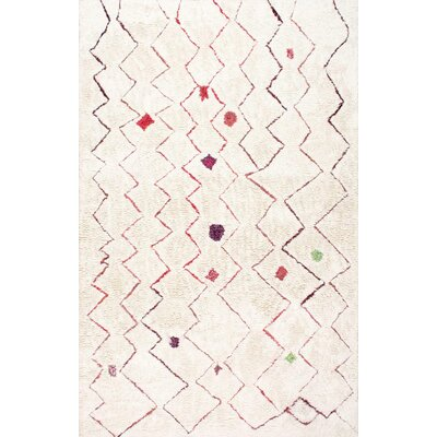 Aldham Hand-Tufted Light Beige Area Rug Rug Size: 5 x 8