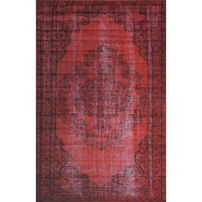 Beal Red Area Rug Rug Size: Rectangle 4 x 6