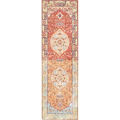 Brighton Orange Area Rug Rug Size: Runner 26 x 8