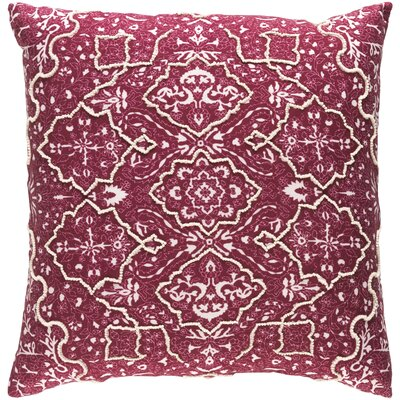 Brandon Throw Pillow Color: Burgundy, Size: 22 H x 22 W x 4 D