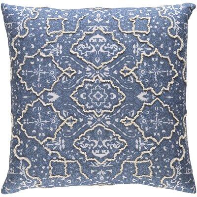 Brandon Throw Pillow Size: 20 H x 20 W x 4 D, Color: Blue