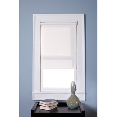 Cordless Roller Shade Color: White, Blind Size: 60 W x 74 L
