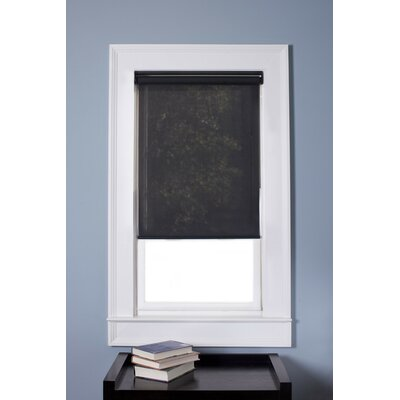 Cordless Roller Shade Color: Black, Blind Size: 35 W x 74 L