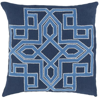 Rihamna 100% Linen Throw Pillow Cover Size: 18 H x 18 W x 0.25 D, Color: Blue