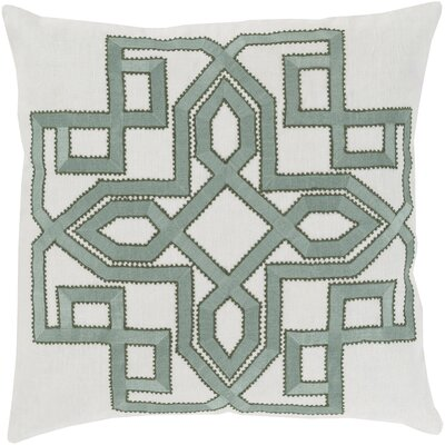 Rihamna 100% Linen Throw Pillow Cover Size: 20 H x 20 W x 1 D, Color: GrayGreen