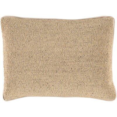 Attie 100% Cotton Lumbar Pillow Cover Color: Tan