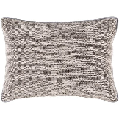 Attie 100% Cotton Lumbar Pillow Cover Color: Gray