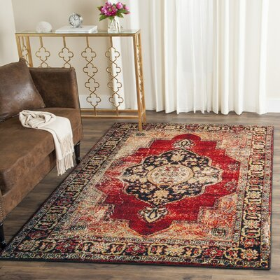 Fitzpatrick Red Area Rug Rug Size: Rectangle 9' x 12'