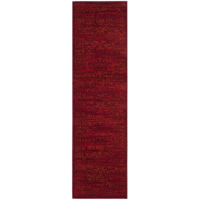 Cannon Red Area Rug Rug Size: Rectangle 9 x 12