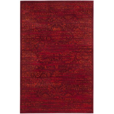 Cannon Red Area Rug Rug Size: 4 x 6