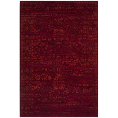 Cannon Red Area Rug Rug Size: 67 x 92