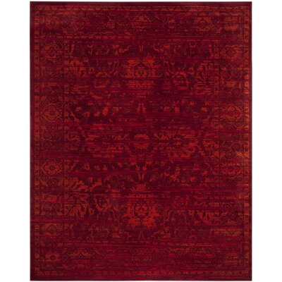 Cannon Red Area Rug Rug Size: 9 x 12
