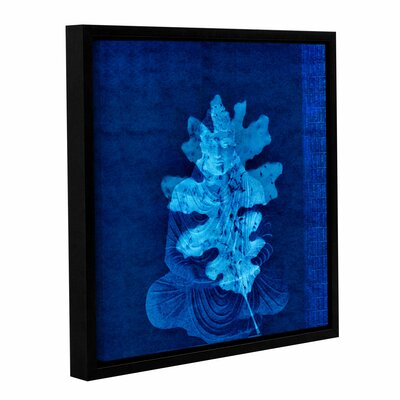 Blue Leaf Buddha Framed Graphic Art on Wrapped Canvas WDMG4284 33279035