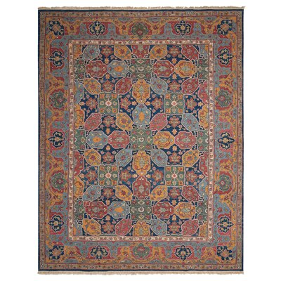 Veronica Handmade Navy/Orange Area Rug