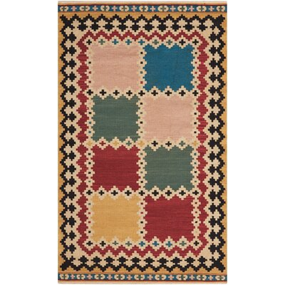 Aurora Handmade Red/Green Area Rug