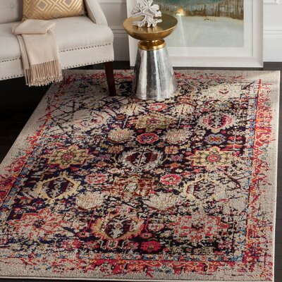 Solum Gray/Multi Area Rug Rug Size: Rectangle 51 x 77