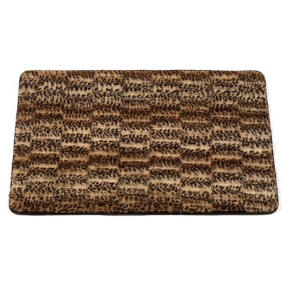 Shadai Cheetah Faux Fur Bath Mat