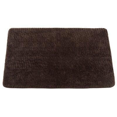 Shadai Sable Faux Fur Bath Mat Color: Brown