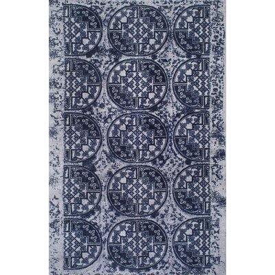 Differdange Hand-Tufted Navy Area Rug Rug Size: 5 x 8