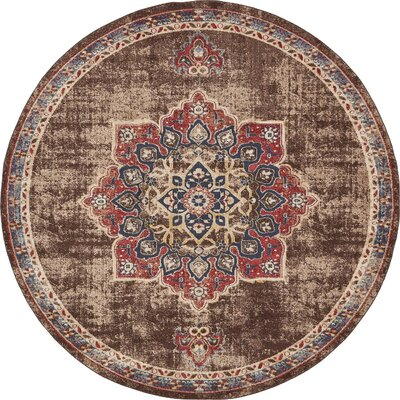 Hansard Belgium Chocolate Brown Area Rug Rug Size: Round 8 x 8