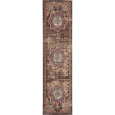 Ballys Chocolate Brown Area Rug Rug Size: Runner 27 x 10