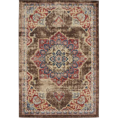 Ballys Chocolate Brown Area Rug Rug Size: 4 x 6